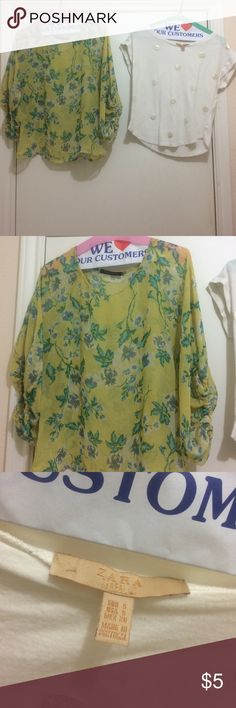 Buy one flower top & get Zara one for free Both are small size, flower one is loose style Tops Blouses