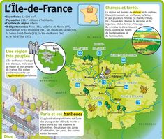Educational infographic : Fiche exposés : LÎle-de-France
