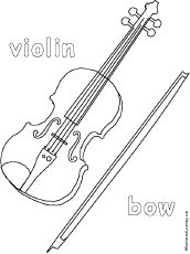 Violin Coloring Page To Print A Printable For Young Music Students