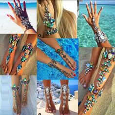 Hot New Fashion 2016 Bracelet Wedding Barefoot Sandals Beach Foot Jewelry Sexy Pie Leg Chain Female Boho Crystal Bracelet Ankle Bracelets, Crystal Bracelets, Anklet Jewelry, Anklets, Jewellery, Body Jewelry, Beach Foot Jewelry, Leg Chain, Wedding Bracelet