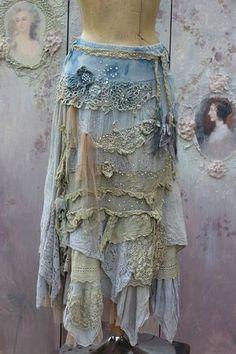 RESERVED BALANCE PAYMENTBarocco skirt romantic by FleursBoheme