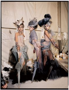 Backstage at Christian Dior Haute Couture
