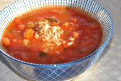 Tomato & Rice Soup | New Paradigm Health Cookery | Information and Recipes about New Health Enhancing, Whole Food, Plant-Based Diet