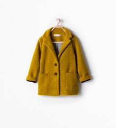 ZARA - KIDS - BUTTONED COAT WITH POCKETS