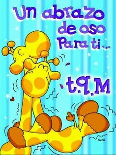 Peace And Love, My Love, Tatty Teddy, Good Morning Good Night, Best Friends Forever, Pretty Words, Cute Images, Spanish Quotes, Illustrations And Posters