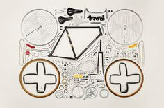 Todd Mclelland William Morris, Pimp Your Bike, Things Organized Neatly, Exploded View, Plakat Design, Coming Apart, Colossal Art, Bicycle Art, Art Graphique