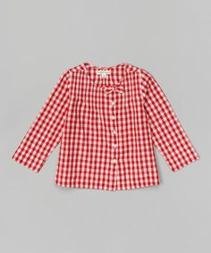 Another great find on #zulily! Red Checks Recree Swing Top - Infant #zulilyfinds