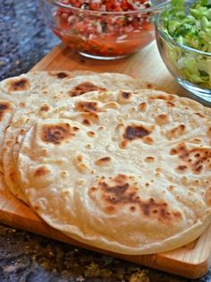Alton Brown's Flour Tortillas - this recipe is awesome! http://www.foodnetwork.com/recipes/alton-brown/flour-tortillas-recipe/index.html