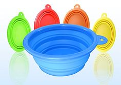 Kavsy™ Collapsible Dog Silicone Bowl for Travel and Backpacking (Blue) Organic Argan Oil, Making Life Easier, Cool Things To Make, Pop Up, Pet Supplies, Your Pet, Household, Food And Drink, Amazon Reviews