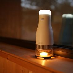 Lumir C converts the heat energy from a single tealight to electric light…