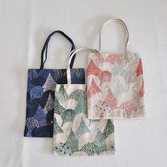 Embroidery fabric mini bag mori