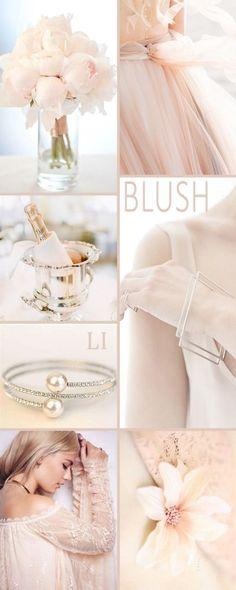 New Wedding Colors Blush Pink Inspiration Boards Ideas Colour Schemes, Color Trends, Color Patterns, Color Combinations, Colour Palettes, Wedding Themes, Wedding Colors, Wedding Decorations, Wedding Ideas