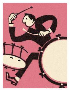 Man Playing Drums Posters by Pop Ink - CSA Images - AllPosters.ca