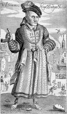 15 June 1559 - Death of William Somer,court jester of Henry VIII of England Uk History, Tudor History, British History, Asian History, History Facts, Armin, Prince Charles, Dinastia Tudor, Tudor Rose