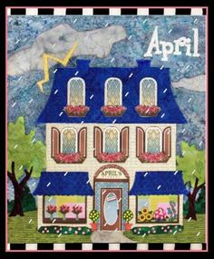Holiday Houses Block of the Month April