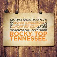 Hey, I found this really awesome Etsy listing at http://www.etsy.com/listing/121064274/rocky-top-poster-17-x-11