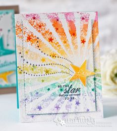 Super Stars Revisited: You're A Star Card by Betsy Veldman for Papertrey Ink (July 2016)