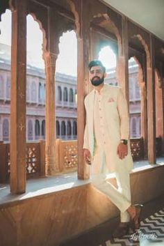 Browse photos, outfit & decor ideas & vendors booked from a real Punjabi /Sikh Destination wedding in Bikaner. Wedding Dresses Men Indian, Wedding Dress Men, Wedding Groom, Wedding Suits, Indian Weddings, Farm Wedding, Wedding Couples, Boho Wedding, Wedding Reception