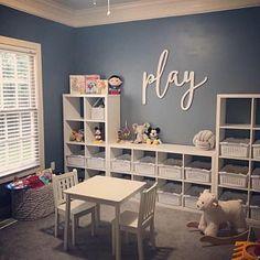 diy wall decor for boy nursery Playroom Design, Playroom Decor, Kids Decor, Wooden Wall Decor, Wood Home Decor, Home Daycare Rooms, Toddler Playroom, Small Playroom, Playroom Organization