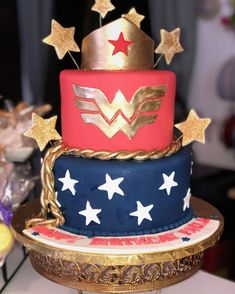 Wonder woman 50th Birthday cake#carinaedolce www.carinaedolce.com www.facebook.com/carinaedolce 50th Birthday, Birthday Cake, Milestone Birthdays, Wonder Woman, Sweets, Facebook, Desserts, Food, Birthday Cakes