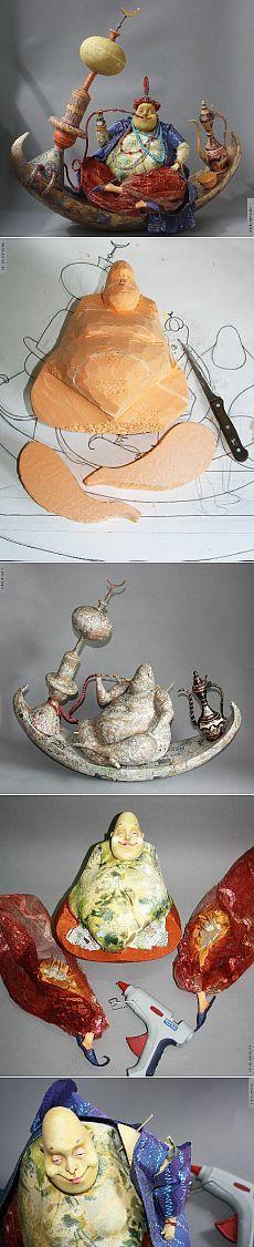 Авторские и портретные куклы Ларисы Чуркиной - скульптура из многослойного папье-маше