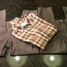 MENS Aeropostale Business Pants Long-Sleeve Shirt MENS  NWOTAeropostale  Business Pants Olive Green  Slim Straight  Size 28/30 or 27/28 NWT Aeropostale  SIZE S  Long-Sleeve Shirt ALL GREAT CONDITION Aeropostale Jeans Straight Leg