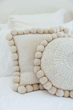 pom pom pillows diy pillows