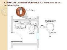 Resultado de imagen para planta baixa hidraulica banheiro