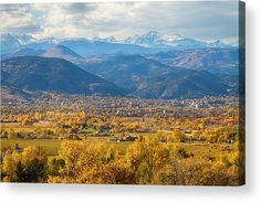 #Boulder #Colorado Autumn Scenic View Acrylic Print by James BO  Insogna.  All acrylic prints are professionally printed, packaged, and shipped within 3 - 4 business days and delivered ready-to-hang on your wall. Choose from multiple sizes and mounting options.