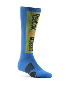 @Reebok USA compression socks. Not only do I love these colors, but they are a must for my marathon running and they also protect your shins from #CrossFit lifts from the ground. #MYFITPIN #getafterit