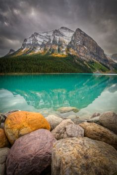 Fall at Lake Louise -- by Paul Zizka.