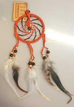 "3"" Orange Dream Catcher"