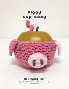 Crochet Pattern Piggy Fruit cozy Apple protector Pig Kittying Crochet Pattern by kittying.com from mulu.us