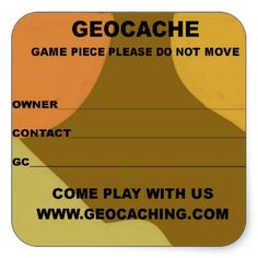 Large geocache lable stickers