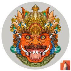 bali demon mask indonesian art tutorial