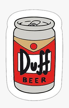 Duff Beer Free Vector Illustration – a can of famous yummy duff beer. Be cool like Homer Simpson and drink this marvelous beverage. Tumblr Stickers, Cool Stickers, Laptop Stickers, Sticker Printable, Duff Beer, Tableau Pop Art, Free Vector Illustration, Aesthetic Stickers, The Simpsons
