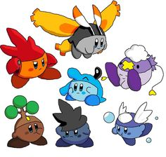 kirby crossovers | Kirby's Poke'hats 2 by RistarFruit on deviantART