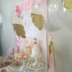 Dessert Tablescape | Swan Party by Little Big Company