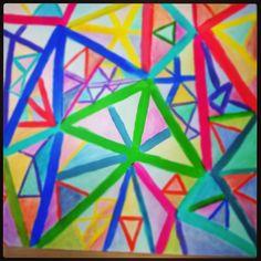 """Triangularity"" artwork, acryl on paper"