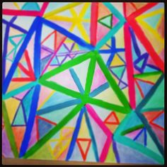 """Triangularity"" artwork, acryl on paper"