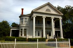 Dawson GA Terrell County Greek Revival Mansion Ionic Columns John B. Perry House 1897Picket Fence Picture Image Photo © Brian Brown Vanishing South Georgia USA 2012