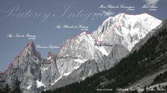 The Peuterey ridge. Alpes/Mont Blanc