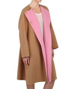 Dreamy. Jil Sander 2-Tone Soft Wool Cocoon Coat