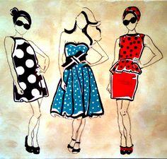 Art Deco Ladies *Artist Tami Dalton*  See More About: muralsbytami.com *https://www.facebook.com/muralsbytami