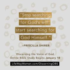 With our next online Bible study quickly approaching, we wanted to share a little more about the Bible study we'll be walking through together! The following is an excerpt from Priscilla Shirer's newly revised and expanded study, Discerning the Voice of God. Order your copy or see a free sample today at www.LifeWay.com/DiscerningTheVoiceOfGod. You can also pick up a …