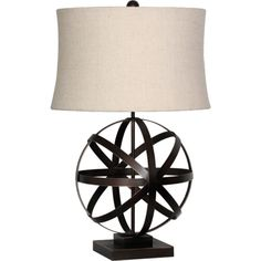 Ion Bronze Table Lamp ❤ liked on Polyvore featuring home, lighting, table lamps, bronze table lamps, bronze lamp and bronze lighting
