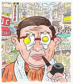'Sartre Eggs' by Hawk Krall