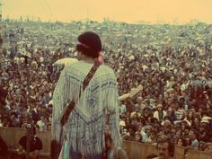 "Jimi Hendrix Woodstock 1969.   ""When the power of love overcomes the love of power, the world will know peace"" - Jimi"