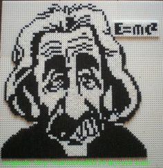 Einstein portrait hama beads by marmotte88130