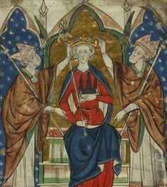 Coronation of Henry III ~ Images of English Kings from Edward the Confessor to Edward I (c.1280-1300).